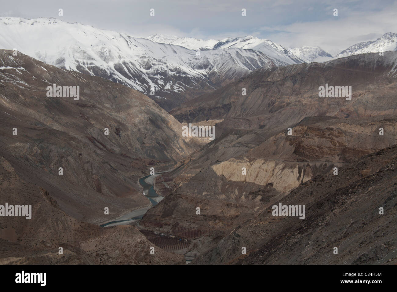Mountain Peaks, Spiti Valley Himachal Pradesh, India - Stock Image
