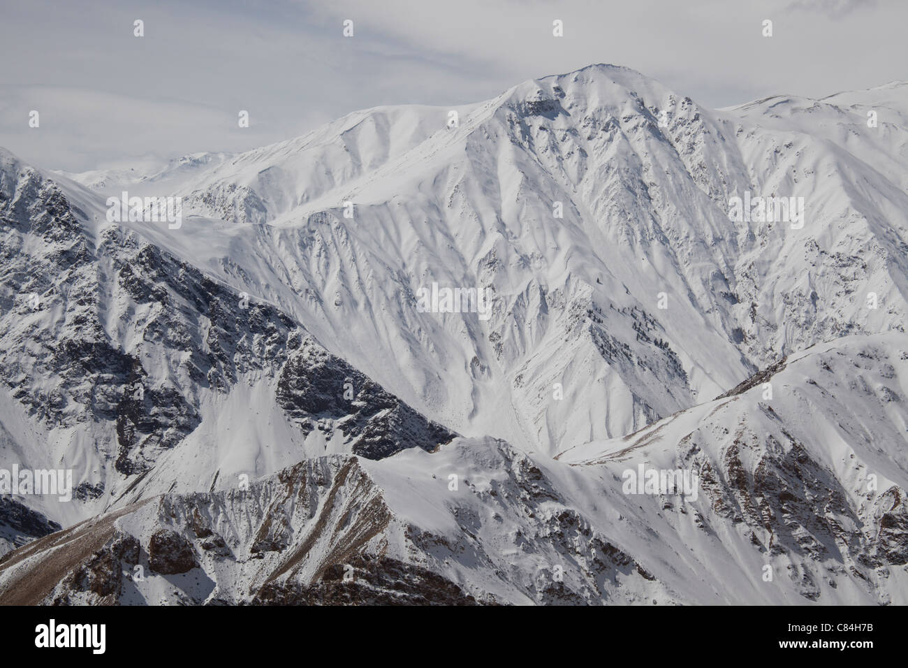 Mountain Peaks,Spiti Valley Himachal Pradesh, India - Stock Image