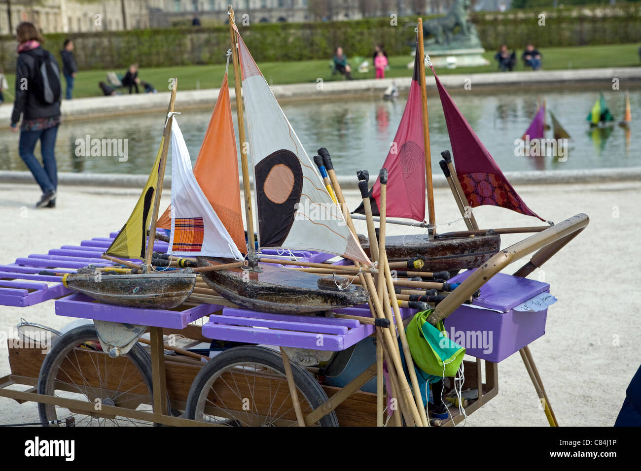Pond Yachts For Hire For The Model Boat Pond Jardin Du Luxembourg