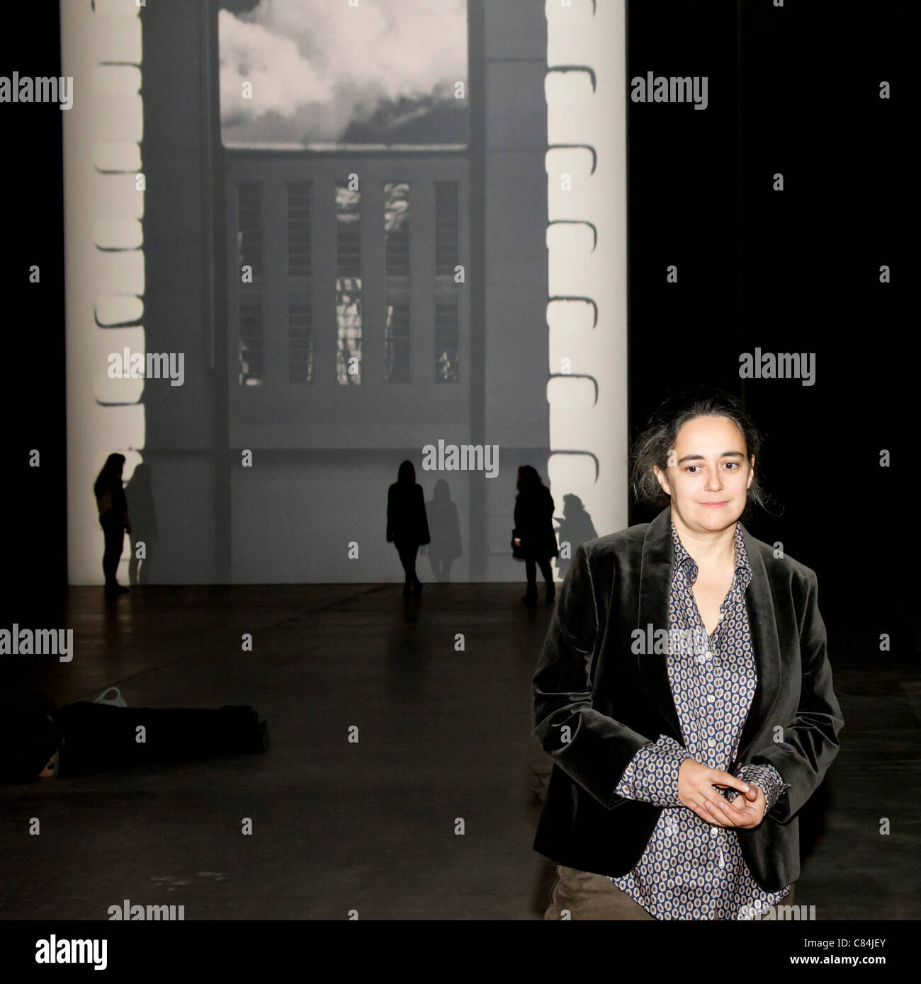 Film by Tacita Dean (pictured), the twelfth commission in the Unilever Series in the Turbine Hall of the Tate Modern, - Stock Image