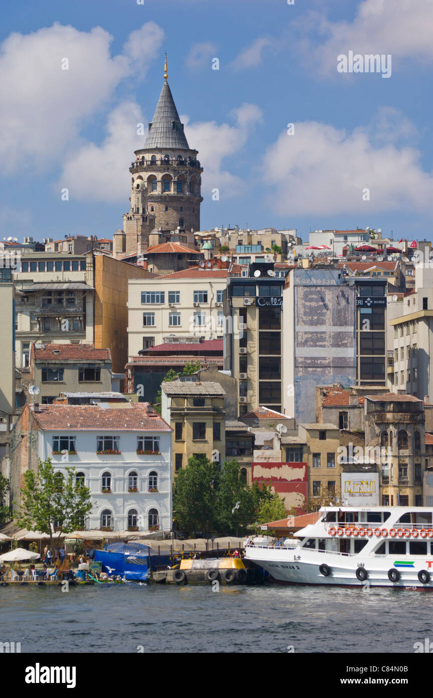 The Galeta tower (Galeta Kulesi) , Beyoglu district, central Istanbul, Turkey, Europe - Stock Image