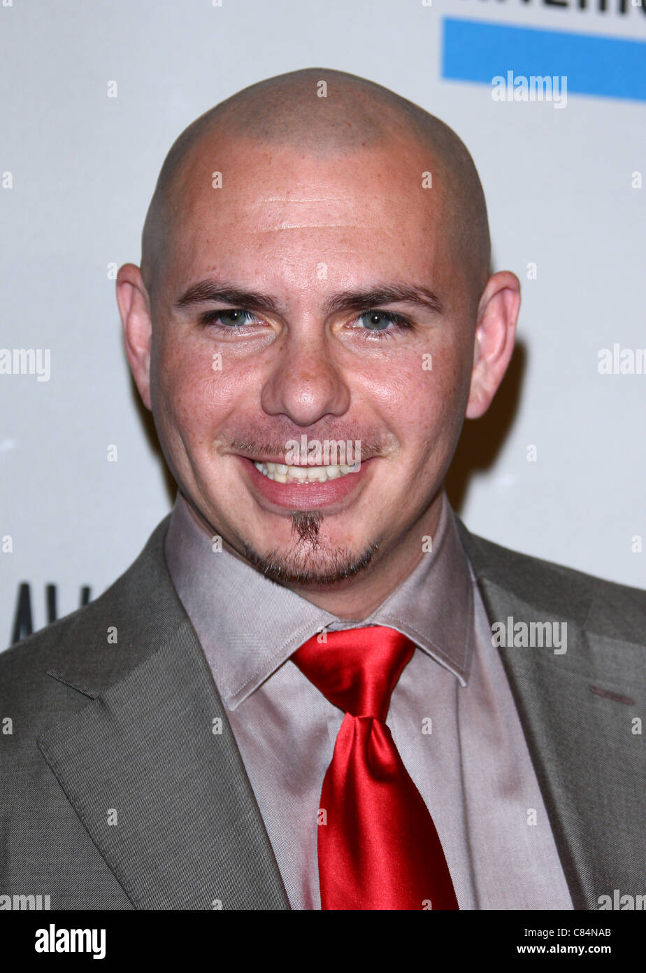 PITBULL 2011 AMERICAN MUSIC AWARDS NOMINATIONS DOWNTOWN LOS ANGELES CALIFORNIA USA 11 October 2011 - Stock Image