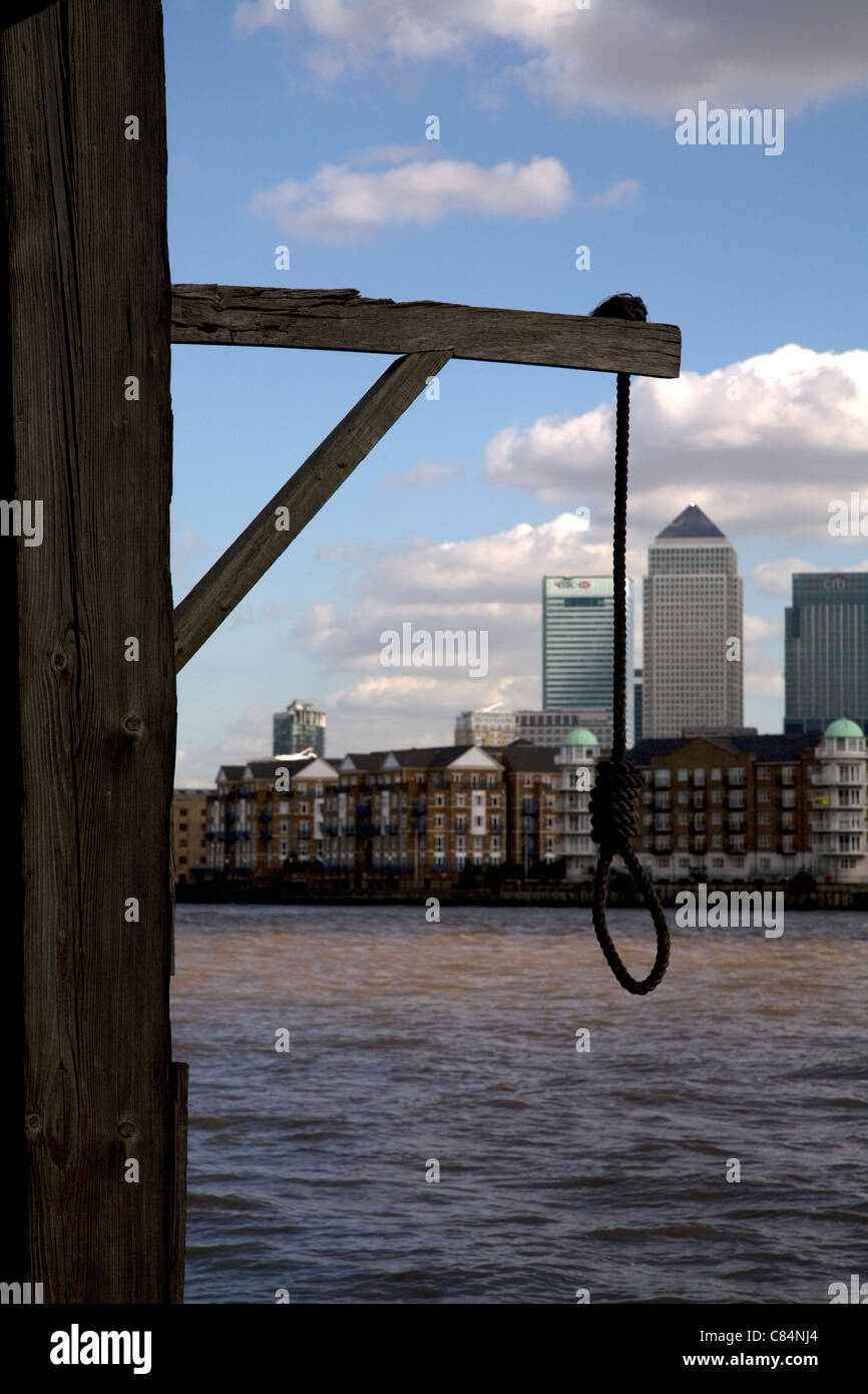 hangman's noose prospect of whitby wapping london england - Stock Image