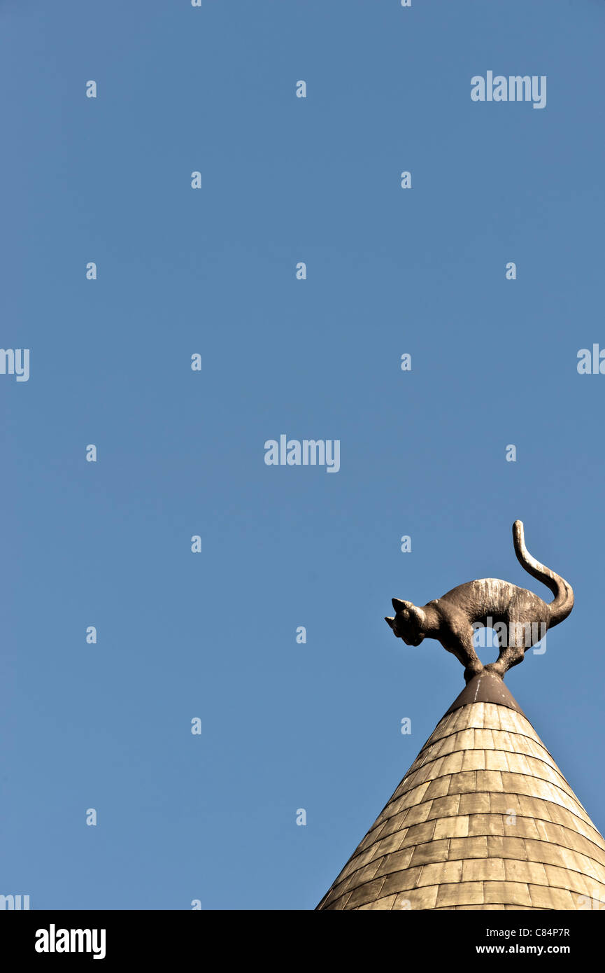 Cat House pinnacle in Riga - Stock Image