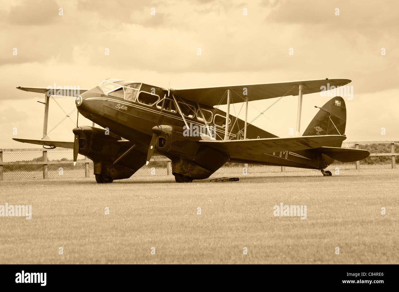 De Havilland DH.89A Dragon Rapide 6 - Stock Image