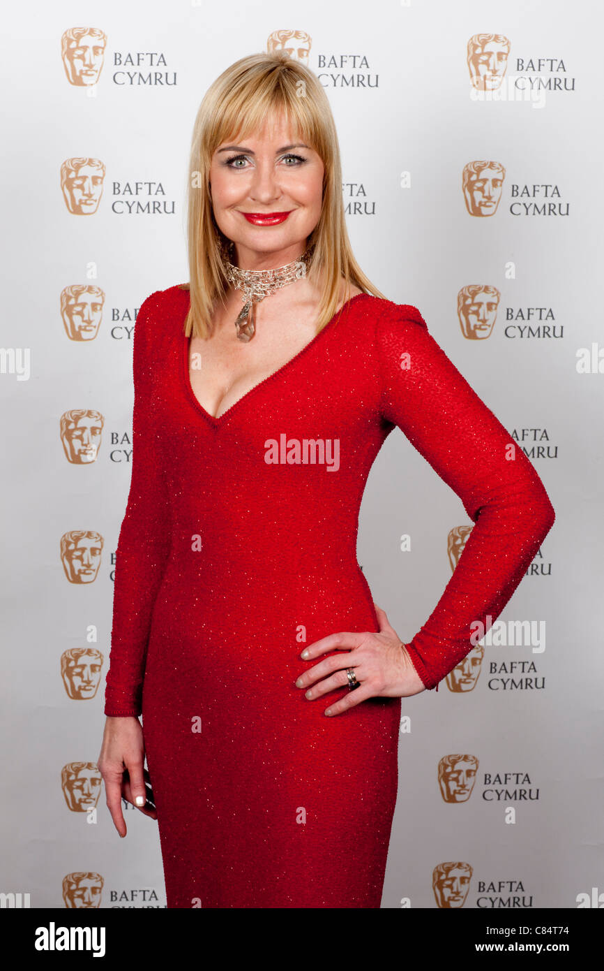 Welsh television and weather presenter Sian Lloyd. - Stock Image