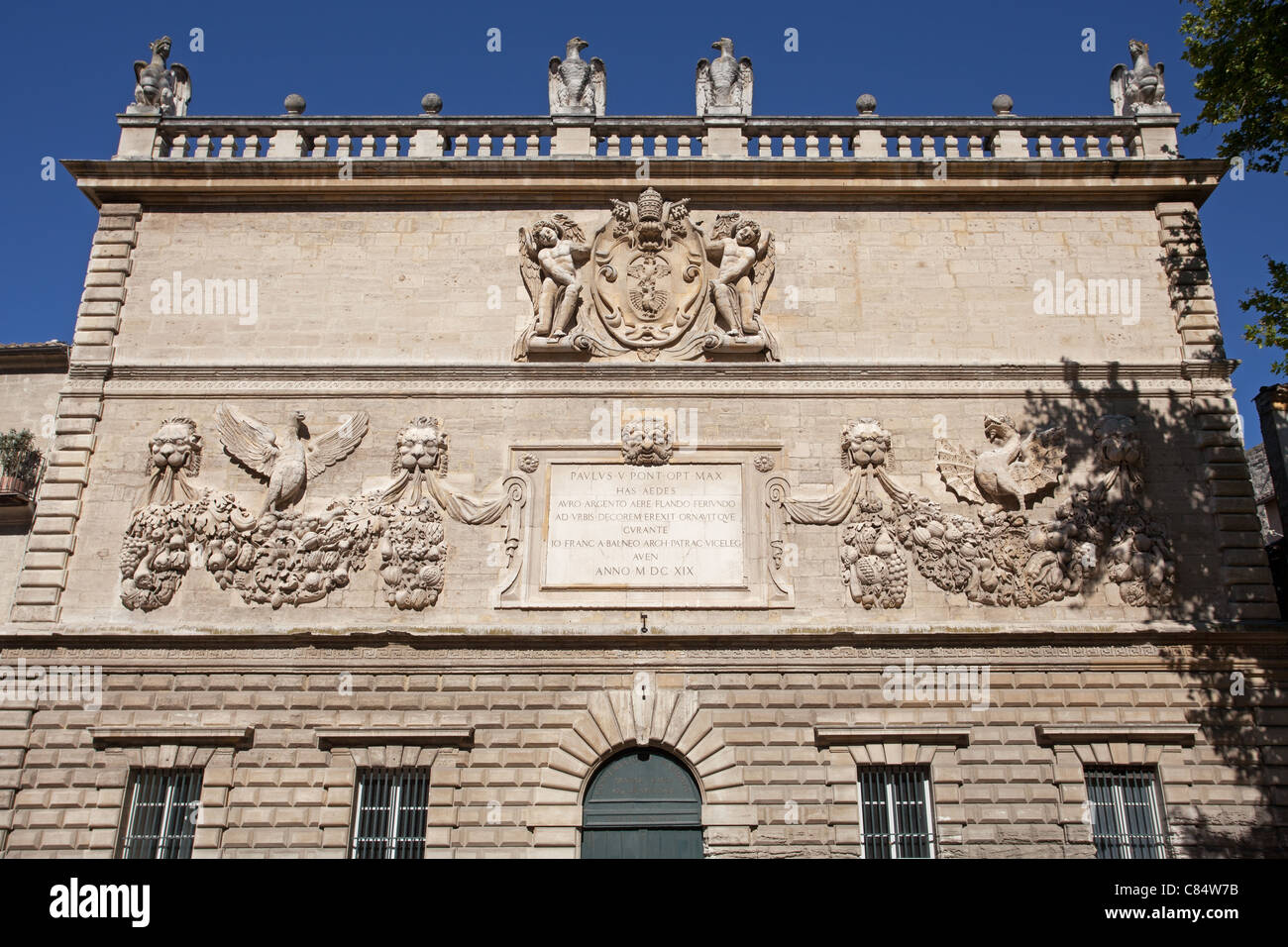 Avignon: Paul V's Coat-of-Arms Stock Photo