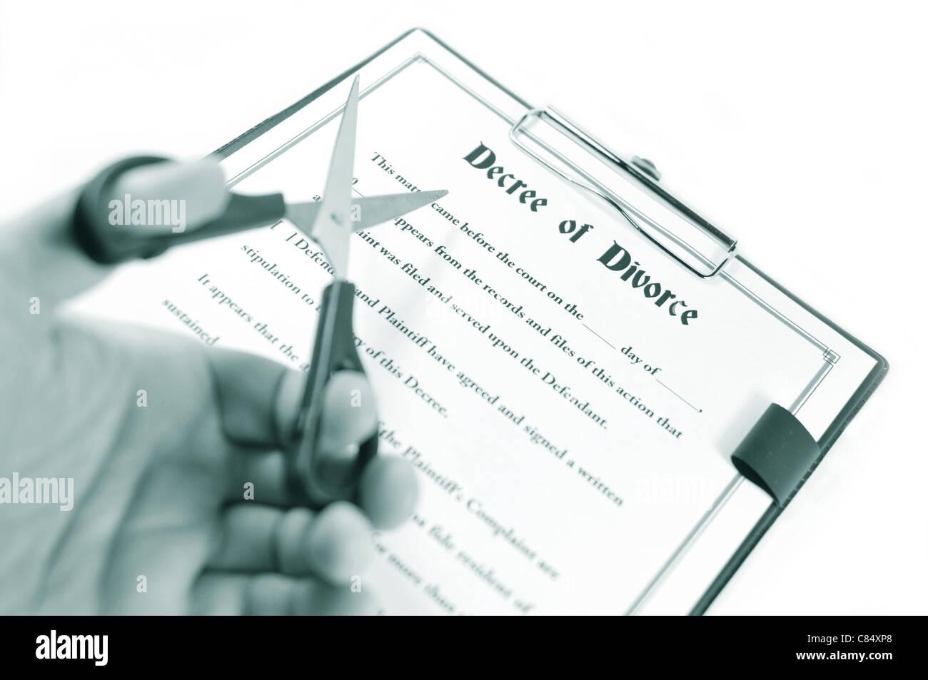 Divorce concept Stock Photo