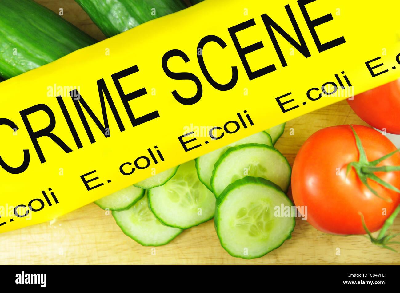 E.coli bacteria concept - Stock Image
