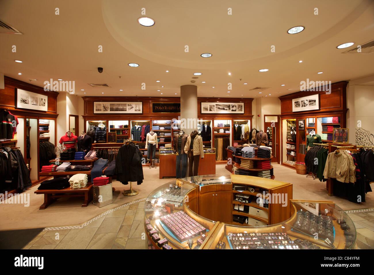 Ralph Lauren Store Interior Stock Photos & Ralph Lauren