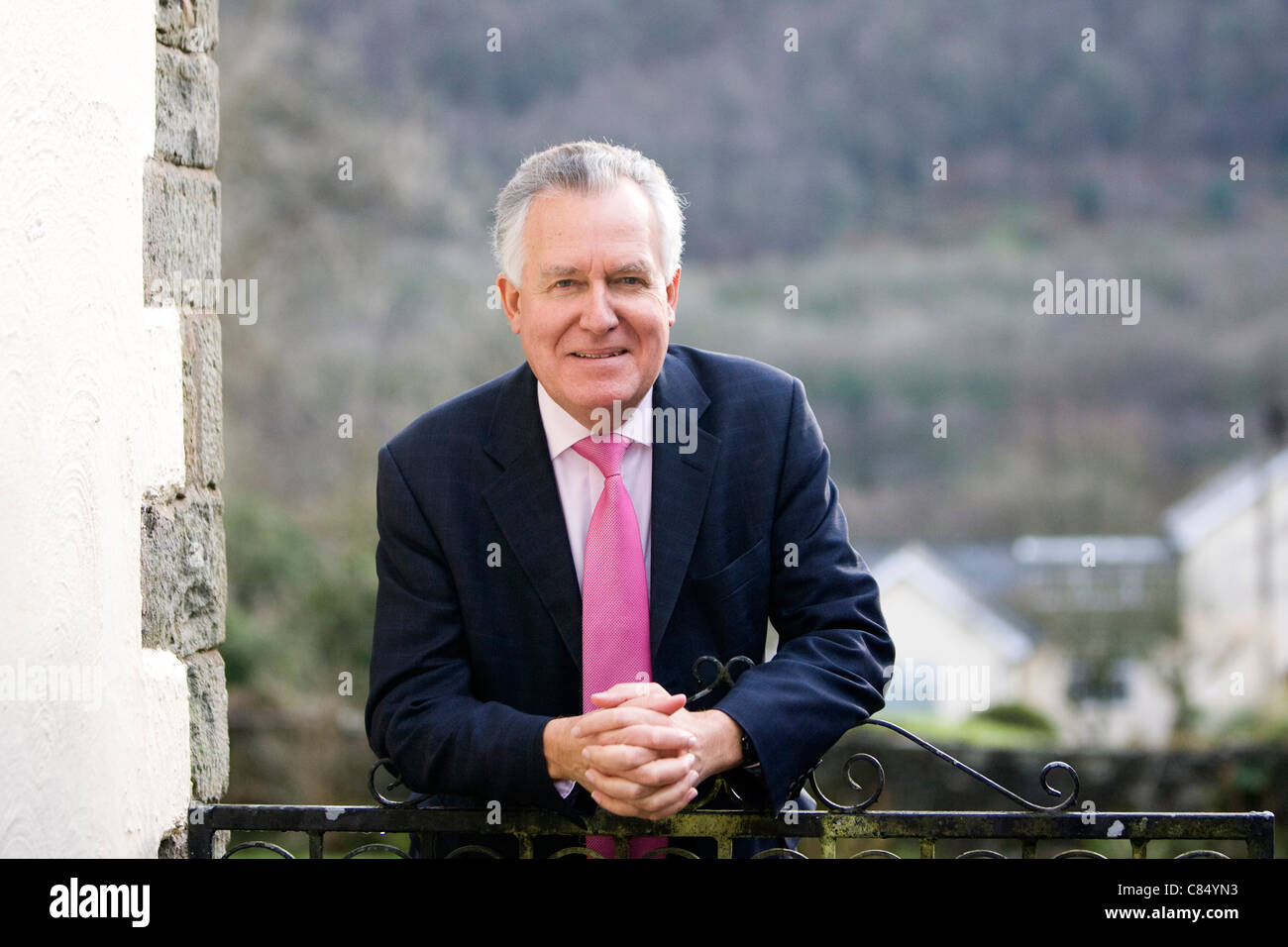 Former Cabinet Minister Peter Hain at home in Resolven, South Wales after hearing that he will not face criminal - Stock Image