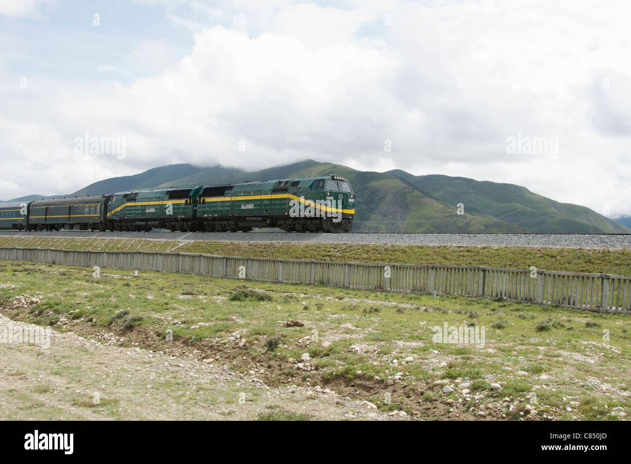 Qinghai–Xizang train Stock Photo