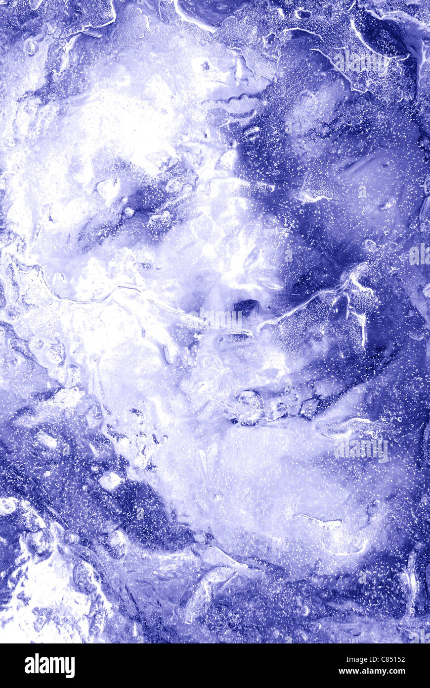 Frozen man - Stock Image