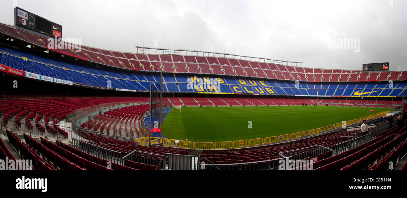 Camp Nou, the home of FC Barcelona - Stock Image