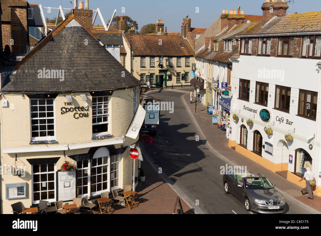 UK, Dorset, Poole streetscene - Stock Image