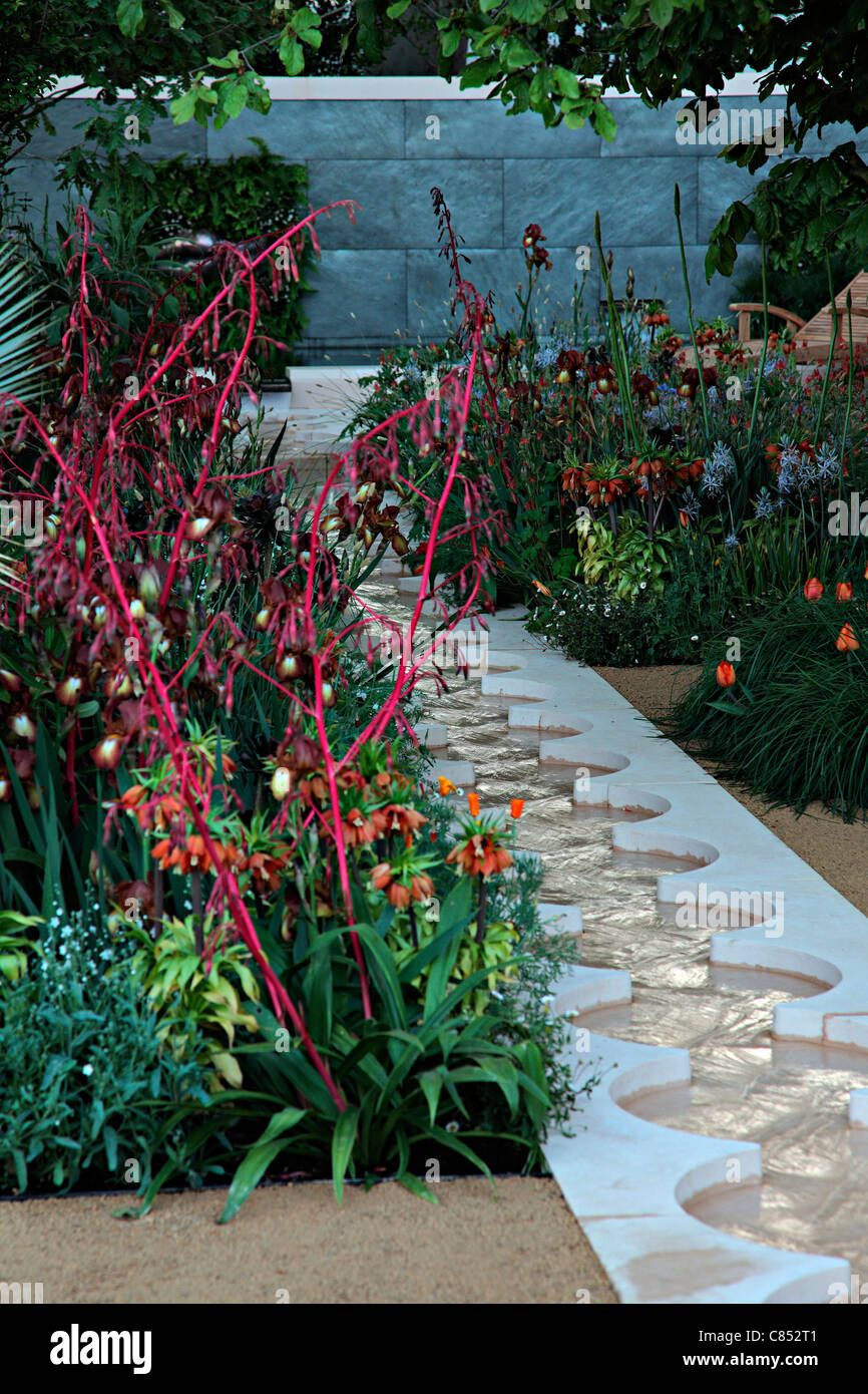 Foreign & Colonial Investments' Garden - Exhibited by Foreign & Colonial Investment Trust. Designer Thomas - Stock Image