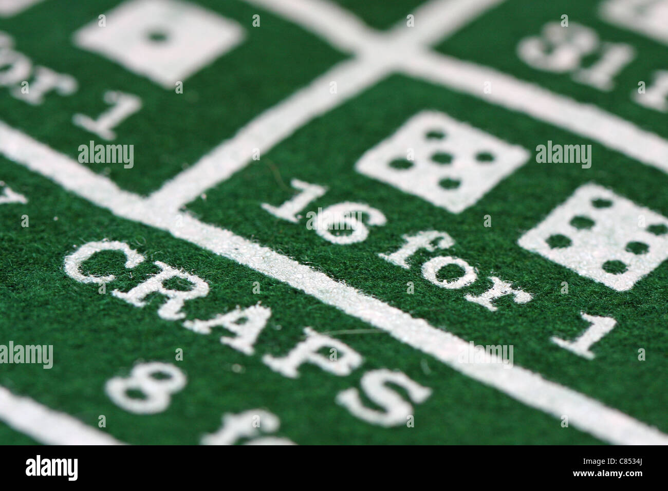 Craps Table - Stock Image