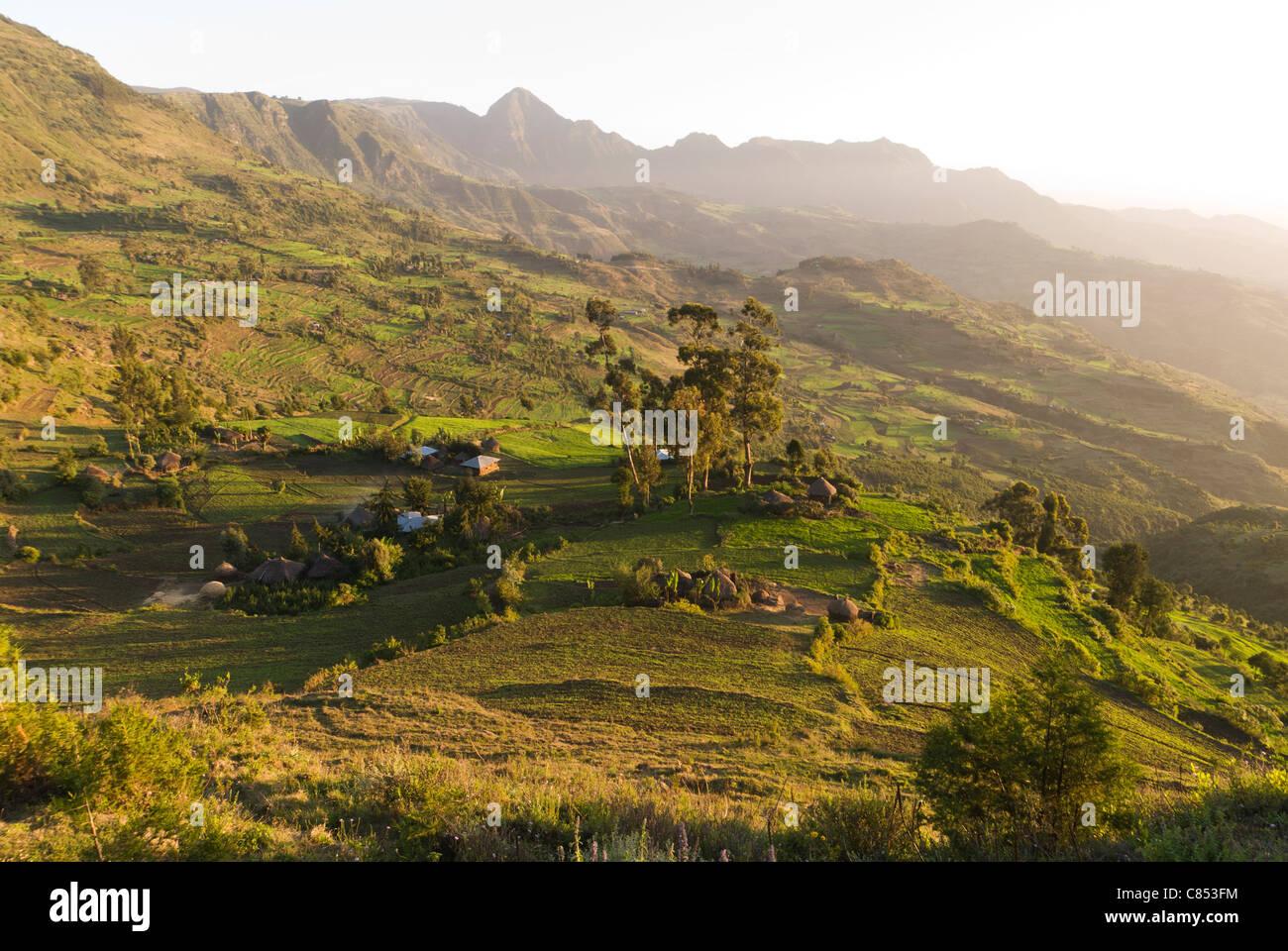 Elk200-1216 Ethiopia, Ankober, escarpment landscape - Stock Image