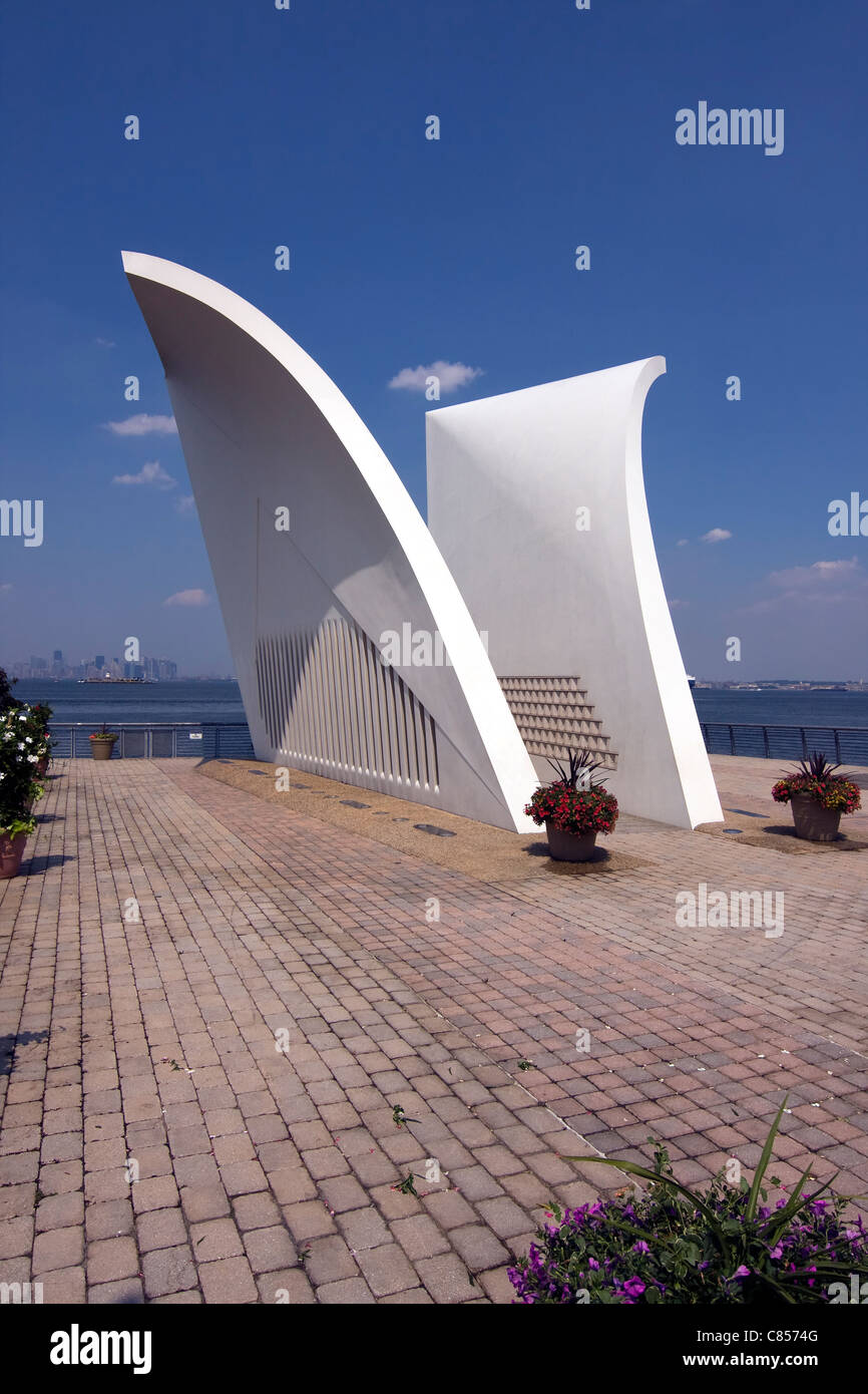 September 11th Memorial called 'Postcards' on Staten Island in New York City - Stock Image