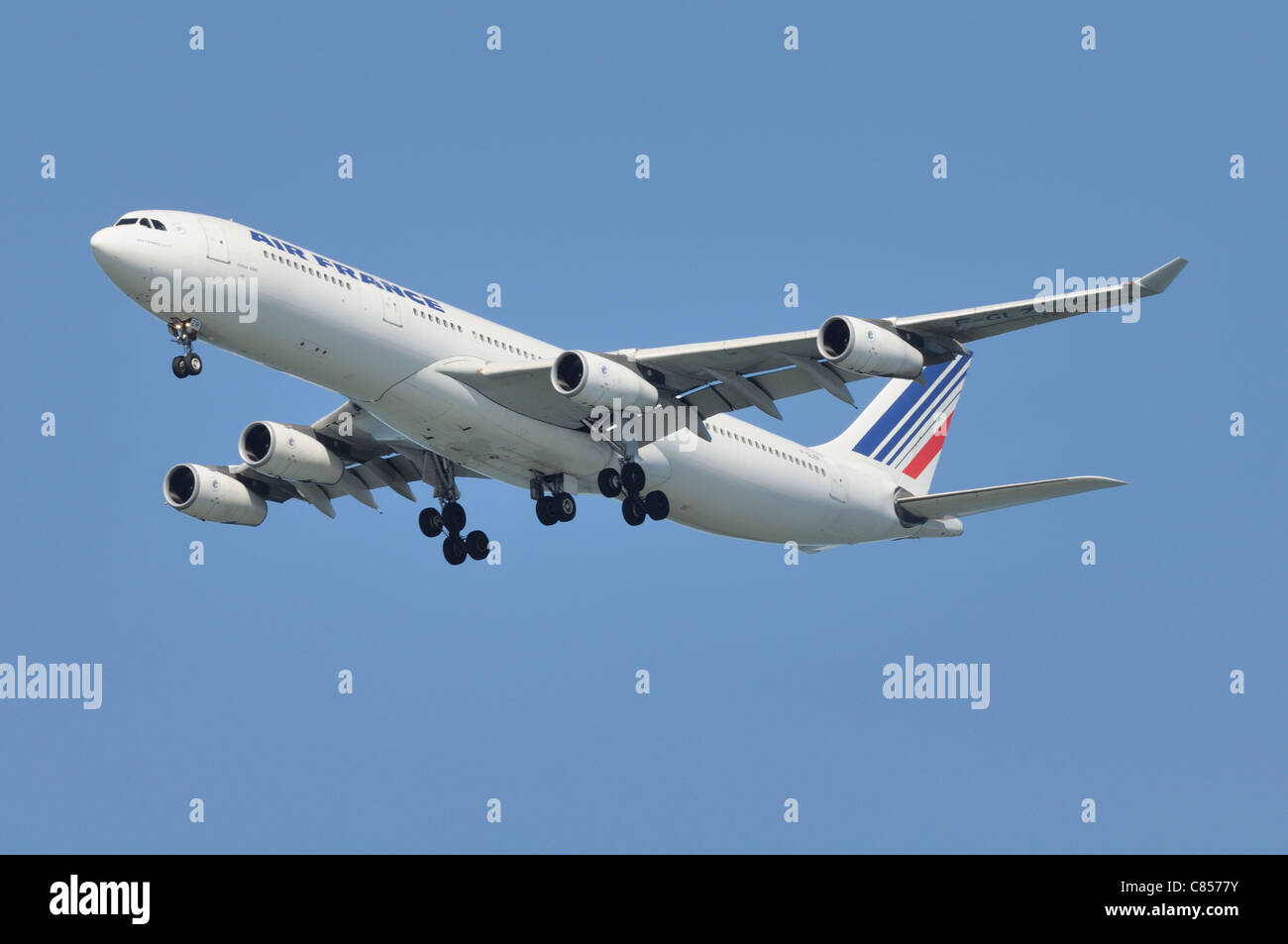 Final Approach! Air France - Stock Image