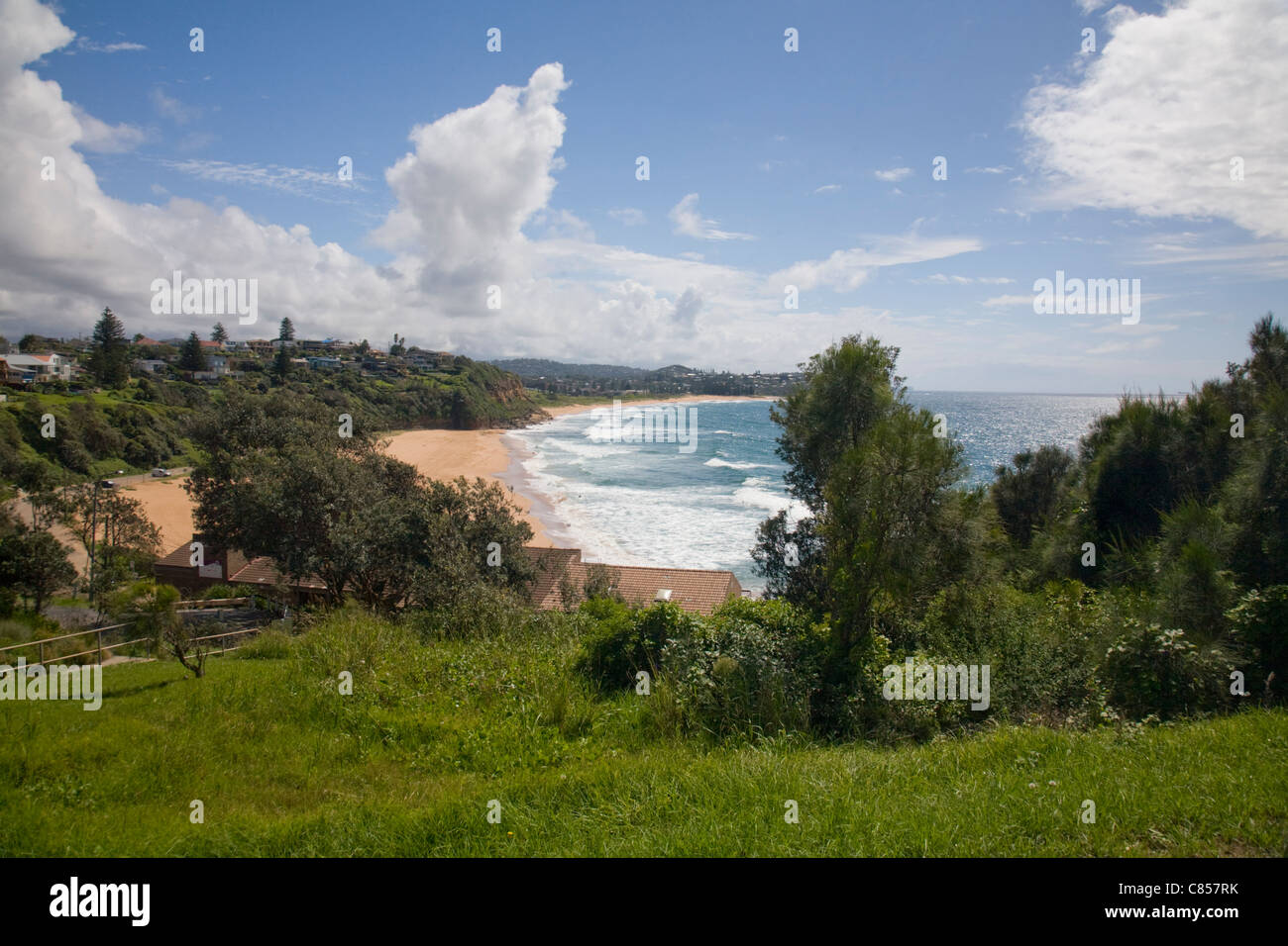warriewood beach one of sydneys famous northern beaches,nsw,australia Stock Photo