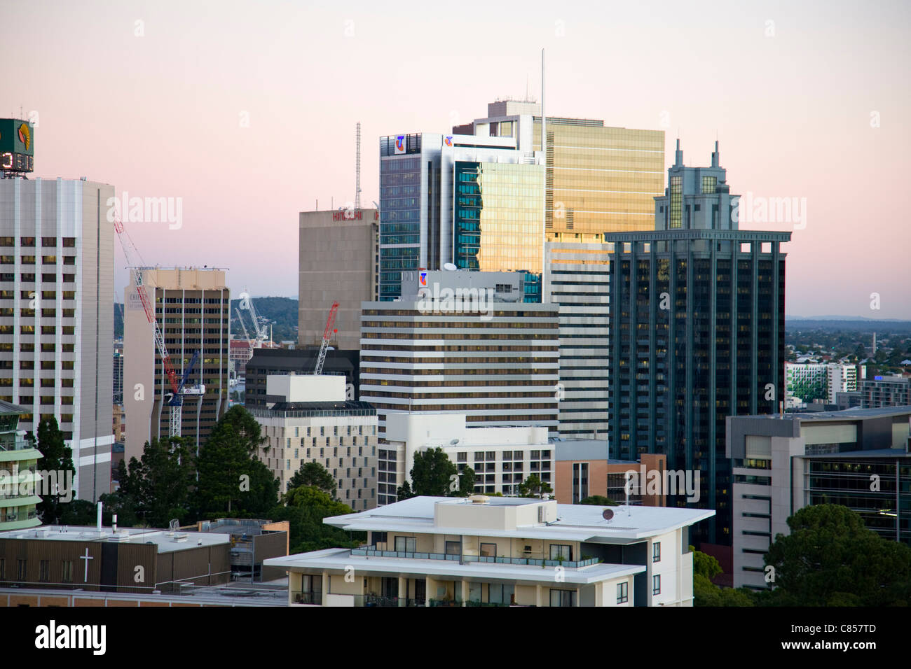 brisbane city skyline,queensland,australia - Stock Image