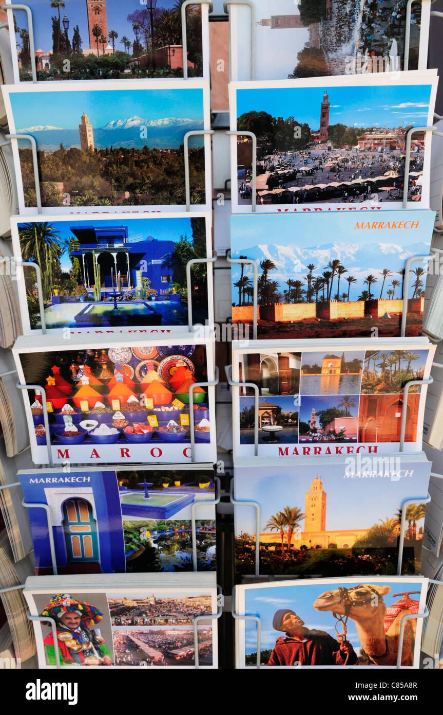 Postcards of Marrakech, Marrakech, Morocco - Stock Image