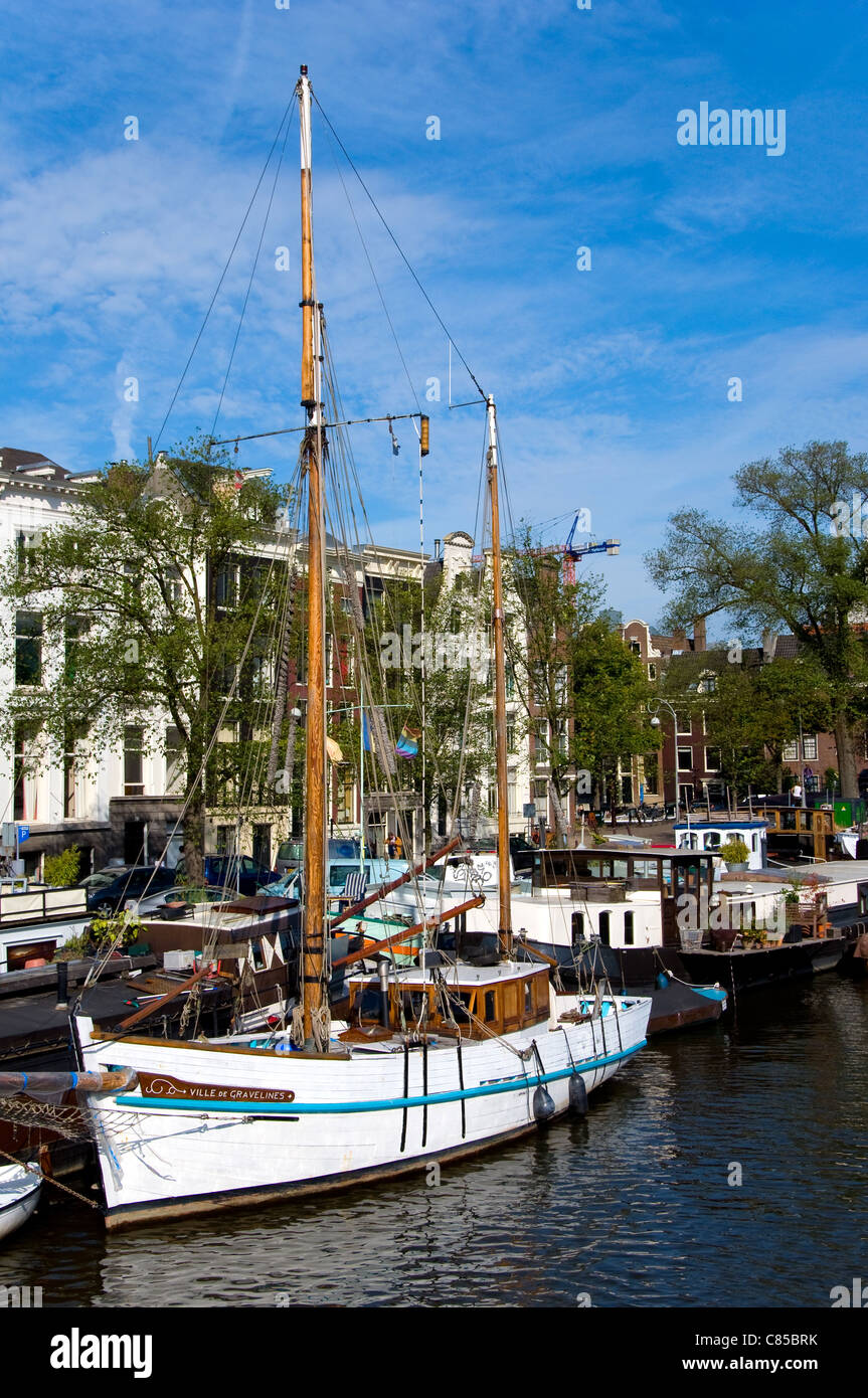 Sail boat, Amsterdam, Holland - Stock Image