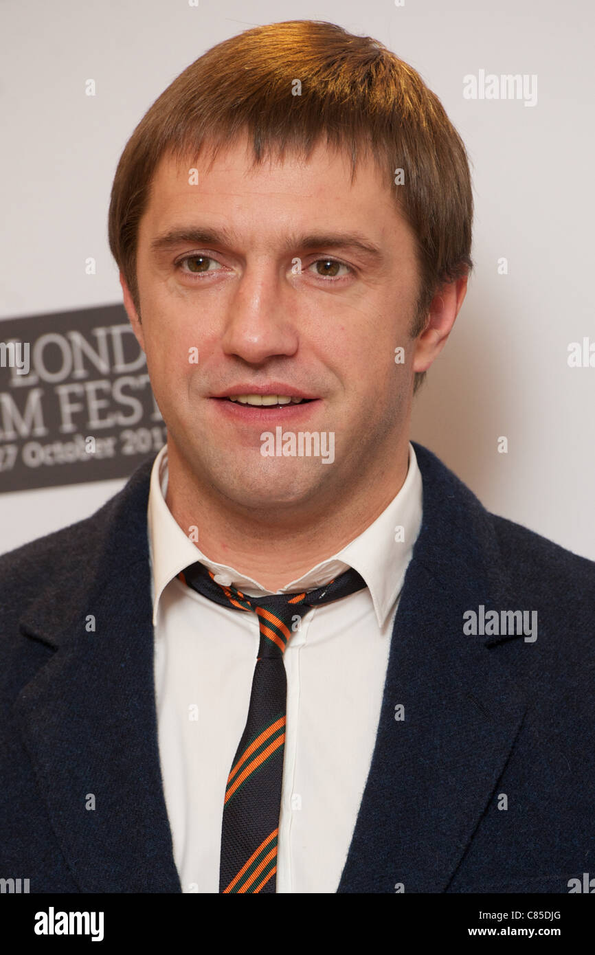 LONDON, UNITED KINGDOM 12 OCTOBER : Pic Shows Vladimir Vdovichenkov attending the London Film Festival photocall - Stock Image
