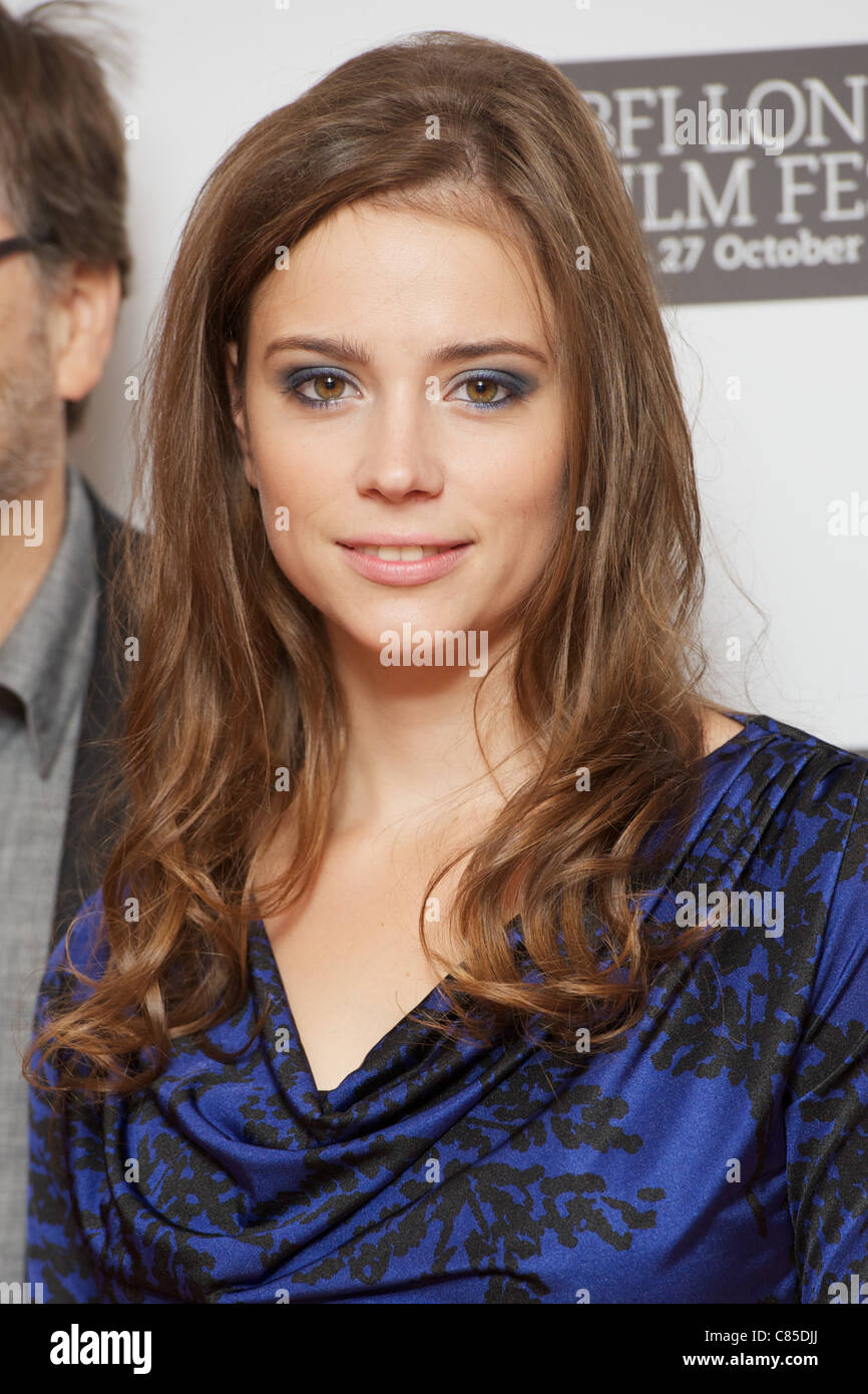LONDON, UNITED KINGDOM 12 OCTOBER : Pic Shows Gabriela Marcinkova attending the London Film Festival photocall for - Stock Image