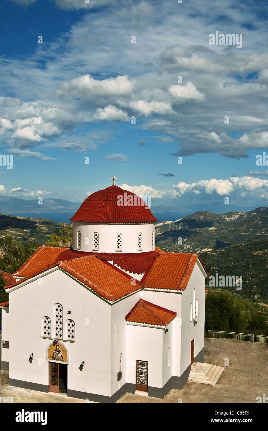 Greek orthodox church in Peloponnese - Stock Image