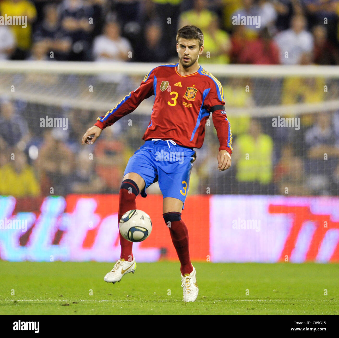 Gerard Pique (ESP) during the Euro 2012 qualification match between Spain  and Scotland ( affc881103172