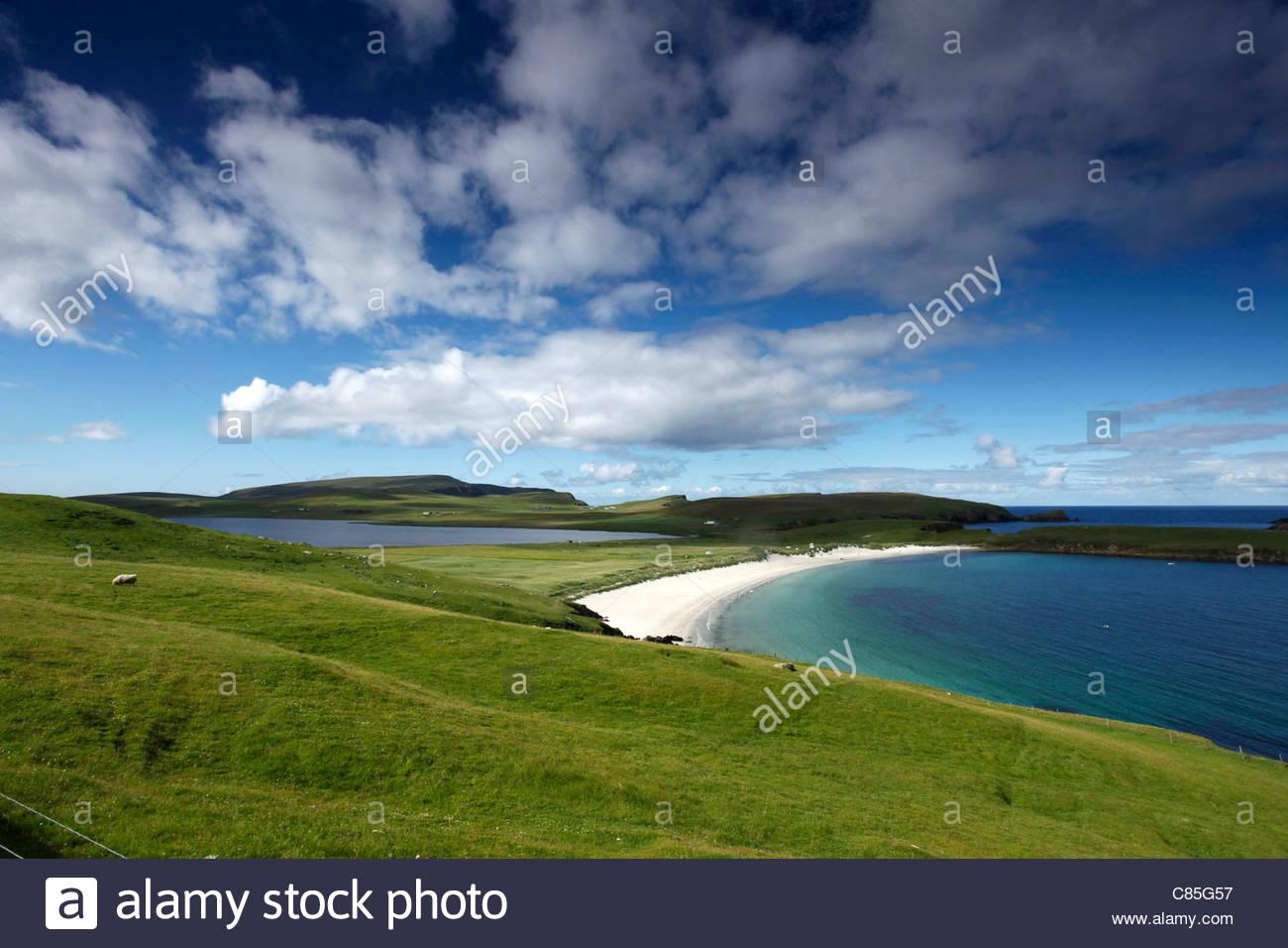 Spiggie Beach, Mainland, Shetland Islands, Scotland - Stock Image
