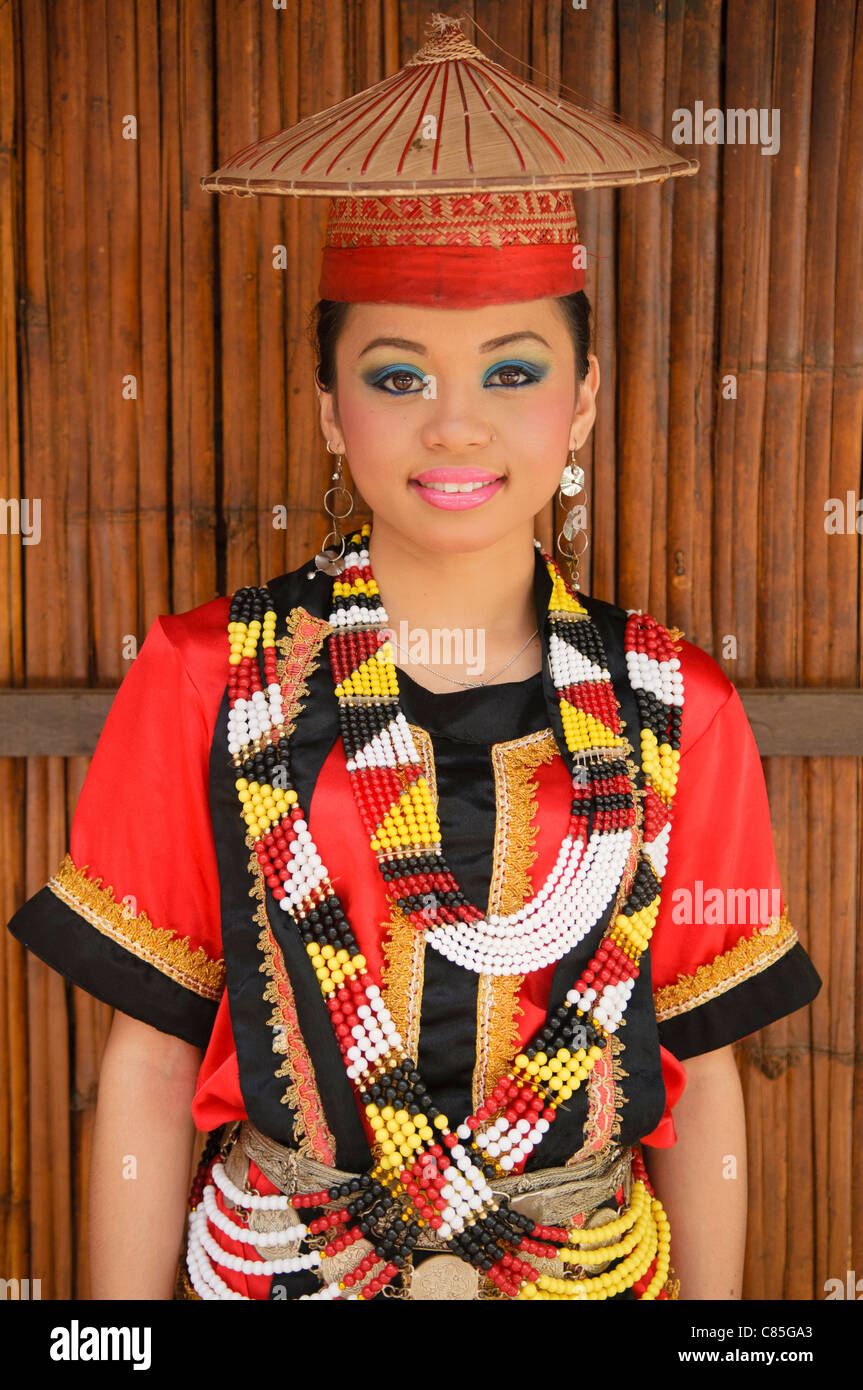 Portrait Of A Traditional Bidayuh Woman In Sarawak Borneo Malaysia Stock Photo Alamy
