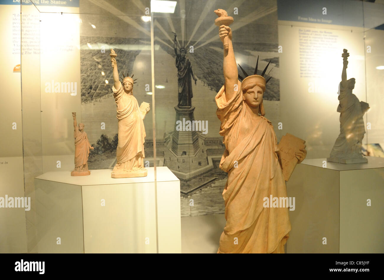 Frédéric Bartholdi worked out his ideas for the Statue of Liberty with small models now in the museum - Stock Image