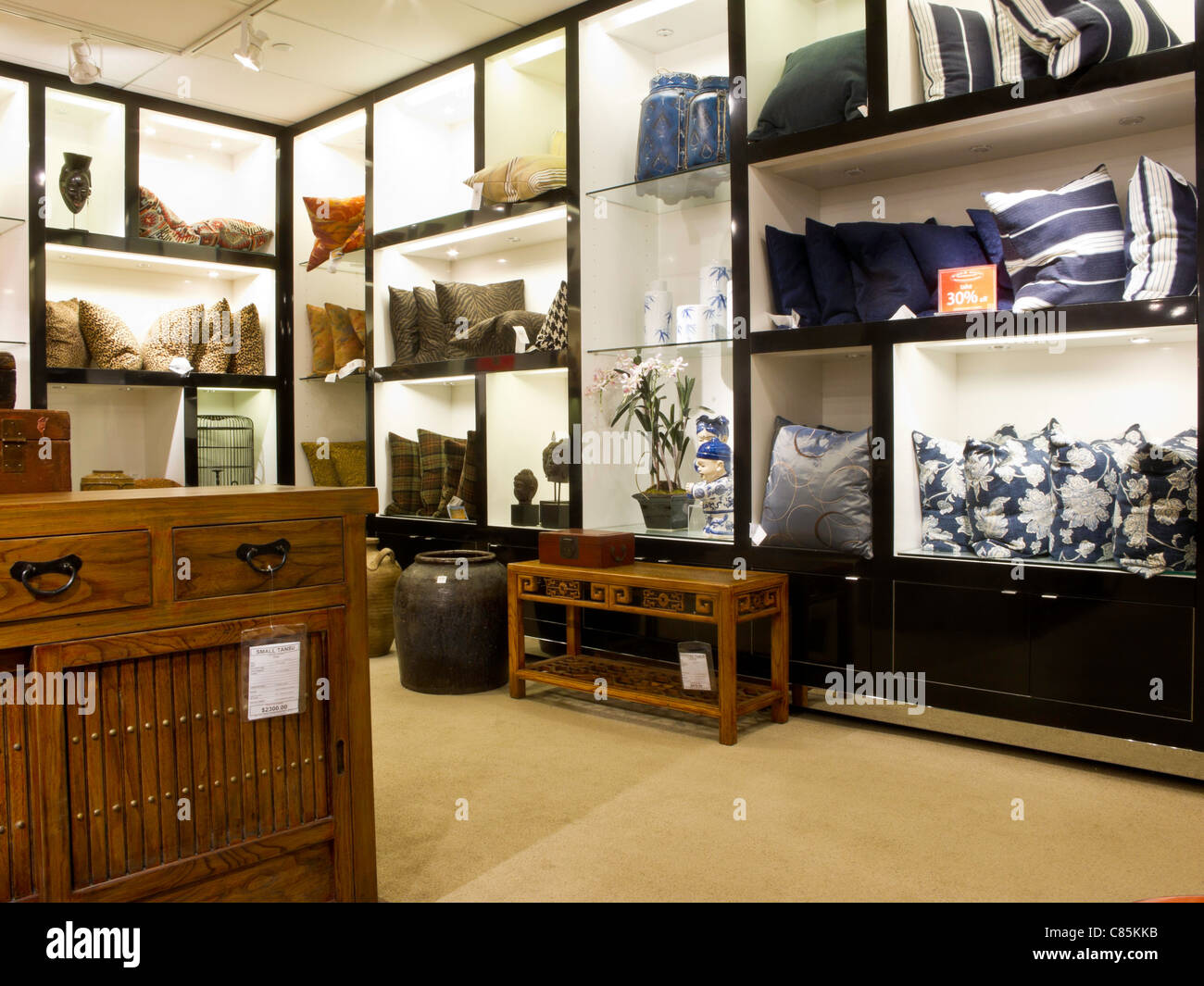 Pillows And Accessories Display, Bloomingdaleu0027s Department Store Interior,  NYC   Stock Image