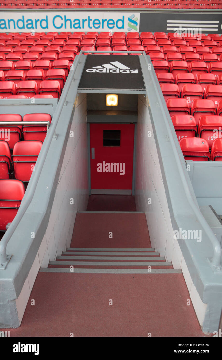 The Players Tunnel Leading Onto The Pitch At Anfield The