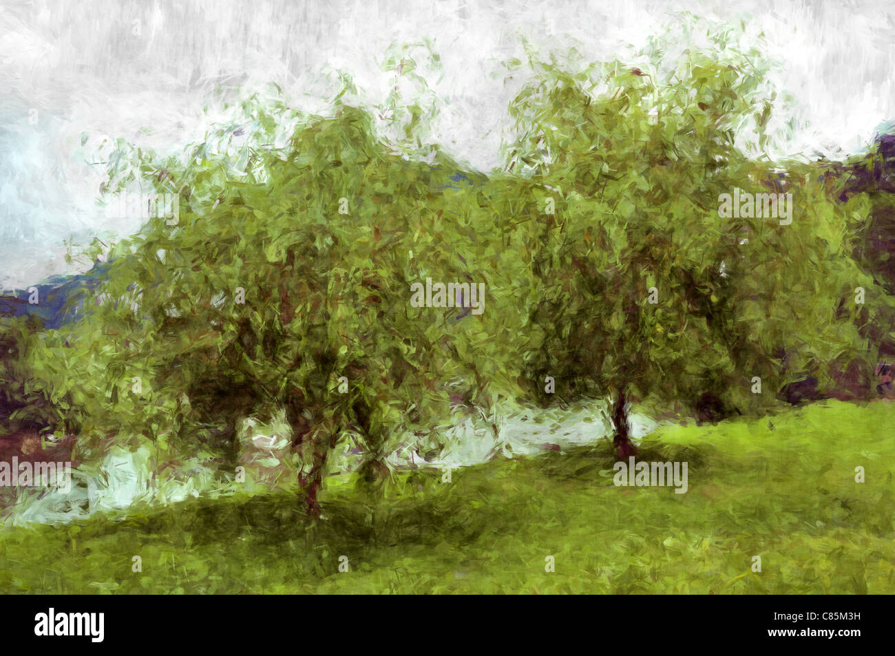 Oil Painting Tree Stock Photos & Oil Painting Tree Stock Images - Alamy
