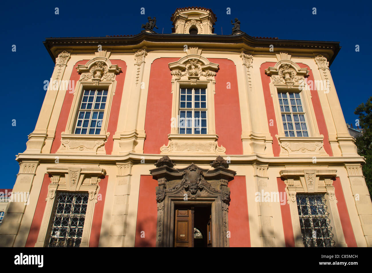 Villa Amerika (1720) by Dientzenhofer housing the Dvorak Museum in Nove Mesto new town Prague Czech Republic Europe - Stock Image