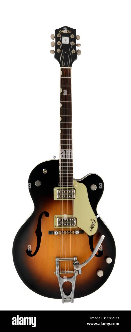 Gretsch Anniversary guitar with tobacco burst body - Stock Image