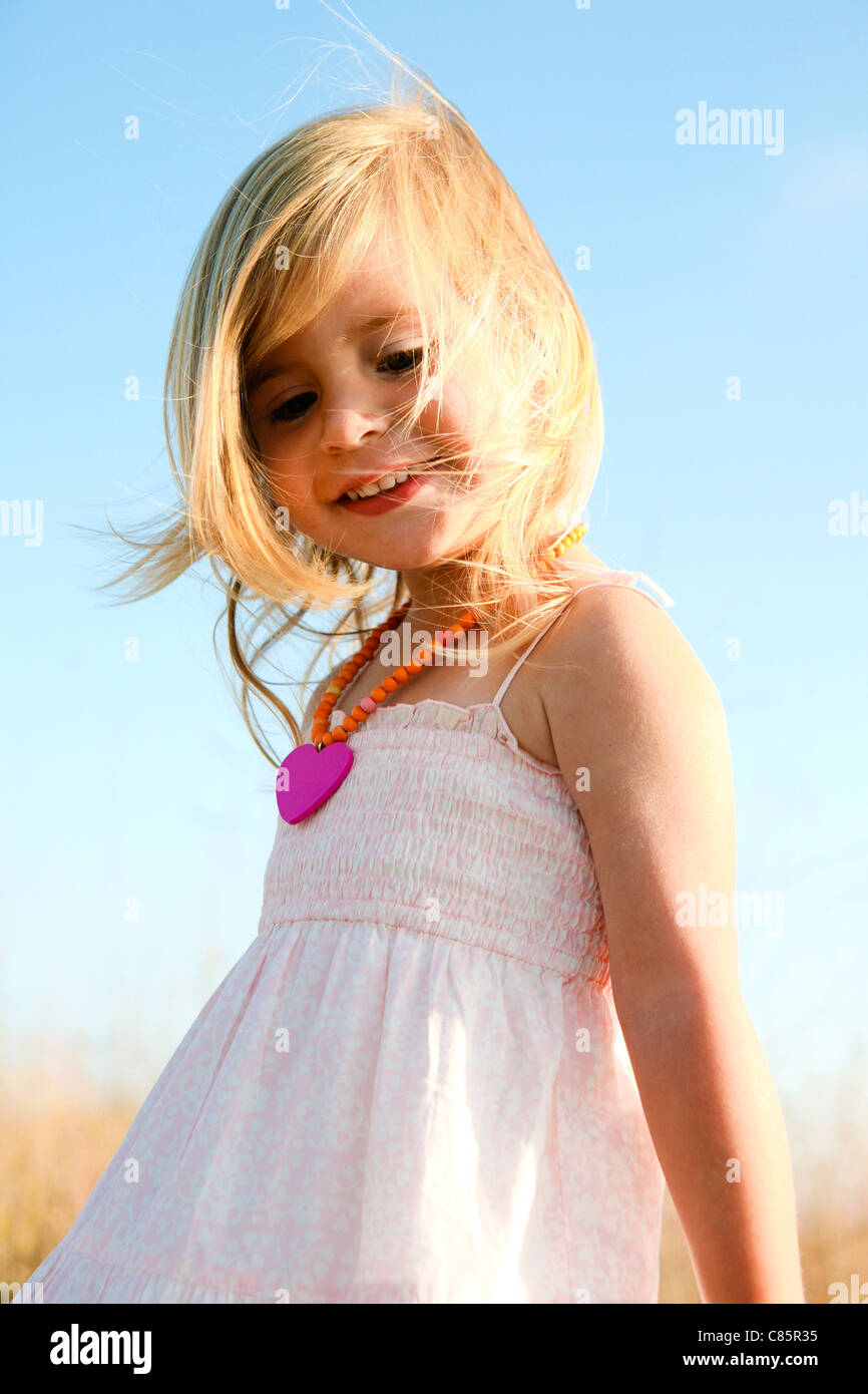 Little girl in sundress - Stock Image