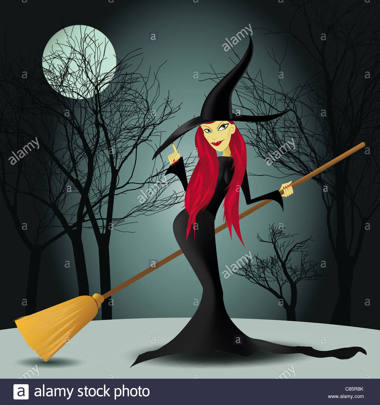 Halloween witch - Stock Image