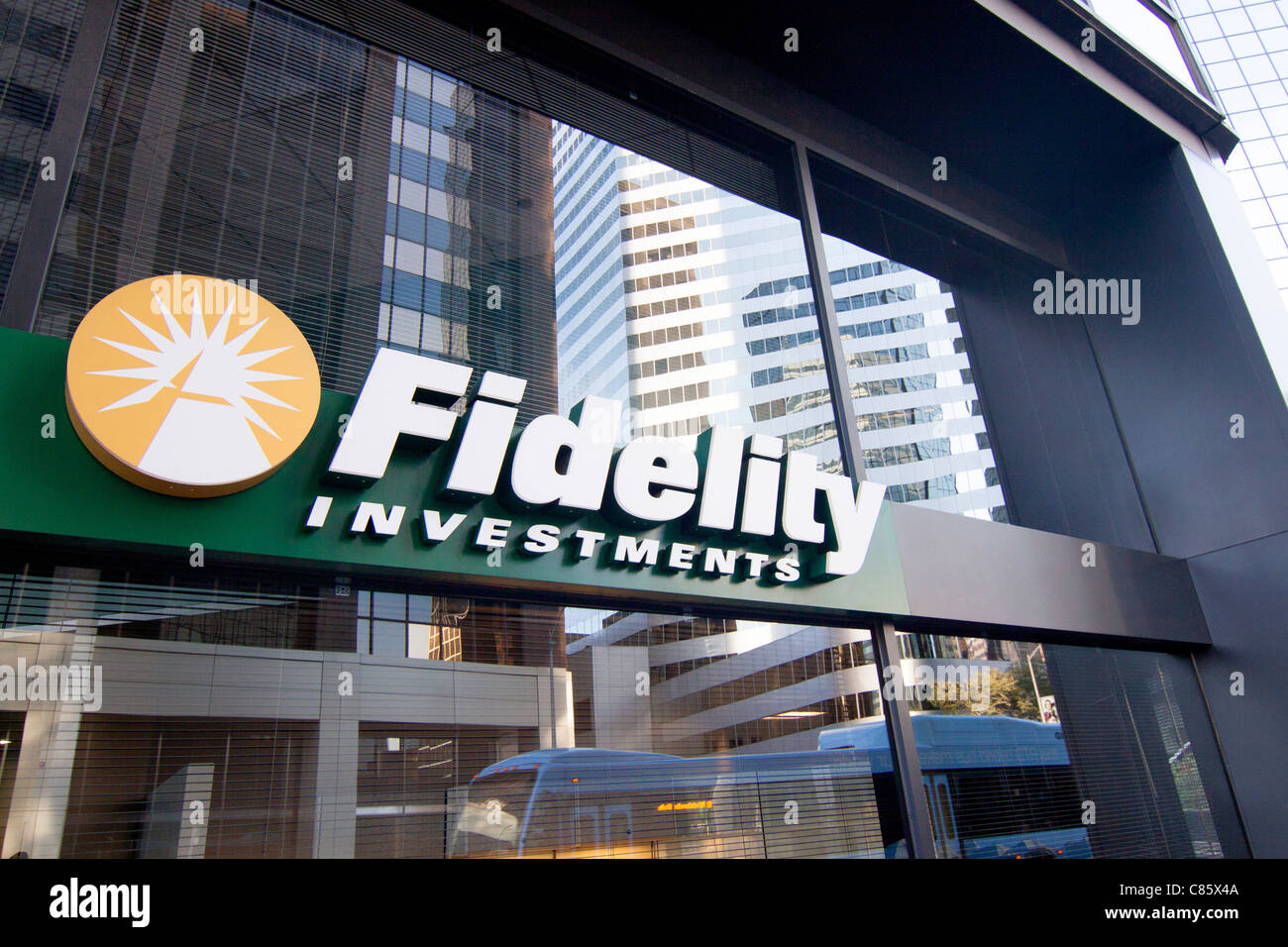 The Fidelity Investments office at 1625 Broadway, Suite 110, Denver Colorado, USA. - Stock Image