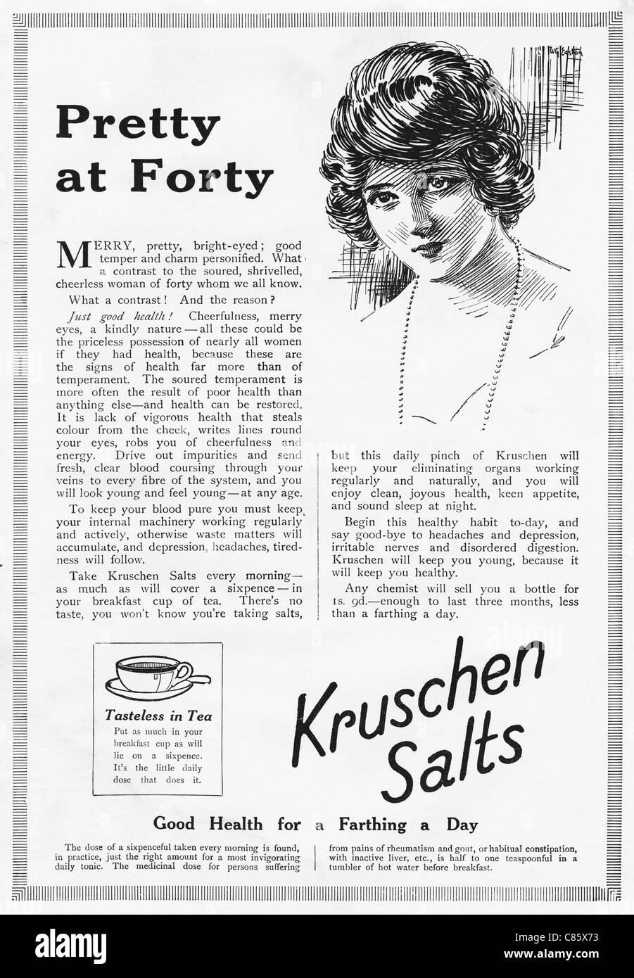 Original 1920s magazine advertisement advertising KRUSCHEN