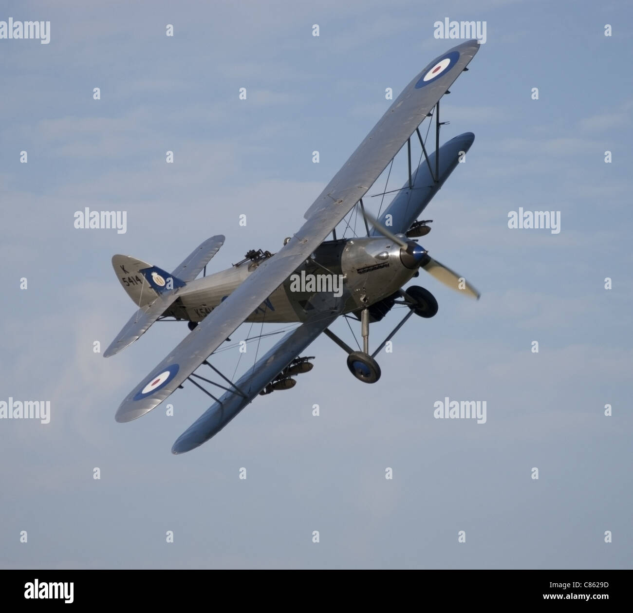 K5414 Hawker Hind bomber - Stock Image