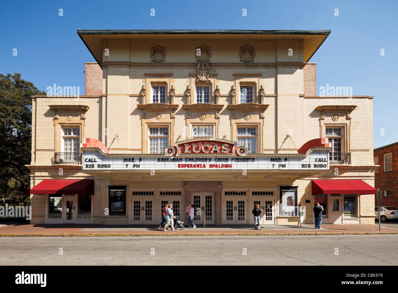 Lucas Theatre, Savannah - Stock Image