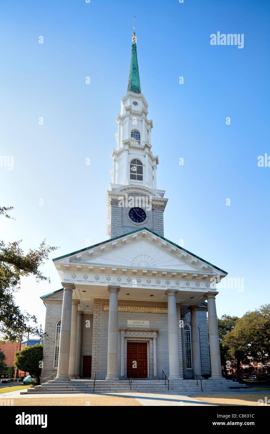 Independent Presbyterian Church, Savannah - Stock Image