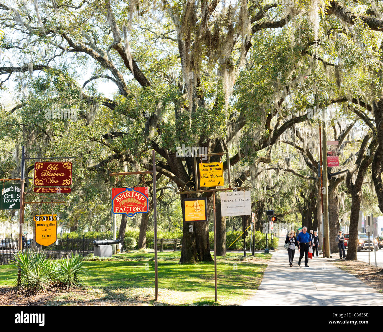 Inn Adverts Emmet Park Savannah - Stock Image