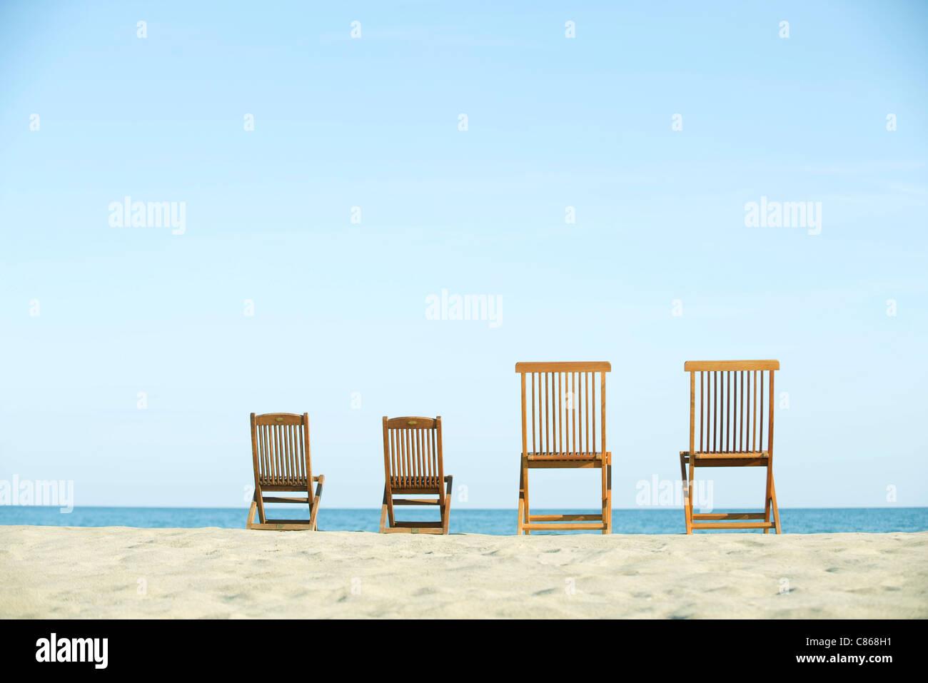 Miraculous Some Beach Deck Chair Back View Stock Photos Some Beach Inzonedesignstudio Interior Chair Design Inzonedesignstudiocom
