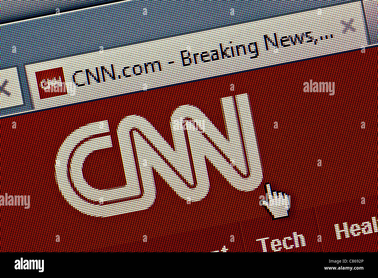 CNN logo and website close up - Stock Image